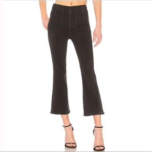 NWT Free People Ultra High Rise Cropped Jeans, 27